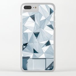 gray geometries Clear iPhone Case