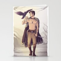 warrior Stationery Cards featuring Warrior by brightfallenstars