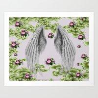 angel wings Art Prints featuring angel wings by karens designs