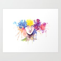 Silk Flower Art Print