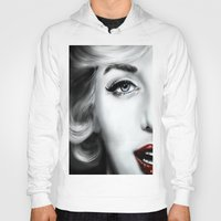marilyn Hoodies featuring Marilyn  by Lily Fitch