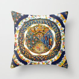 Tibetan Shambala Mandala 33 Throw Pillow
