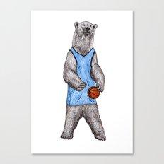 White Bears Can't Jump Canvas Print