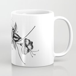 Graphic Flower Ink Art Coffee Mug