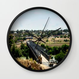 Tailem Bend Bridge over the Murray River Wall Clock