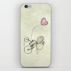 Cute Elephant riding his bike iPhone & iPod Skin