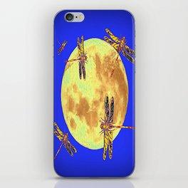 Golden Dragonflies Love Moon Light iPhone Skin