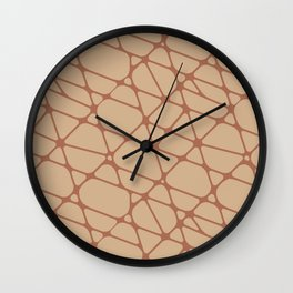 Cavern Clay SW 7701 Abstract Mosaic Pattern 2 on Ligonier Tan SW 7717 Wall Clock