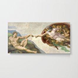 Michelangelo - The Creation of Adam Metal Print