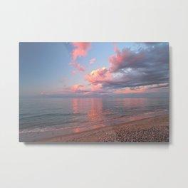 Pink Skies at Night, landscape view Metal Print