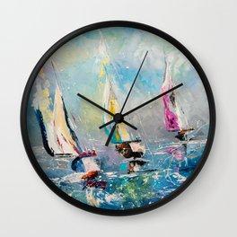 FOLLOW THE WIND Wall Clock