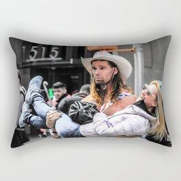 Black and colour Cowboy New York City ArtWok Rectangular Pillow