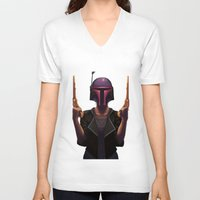 boba V-neck T-shirts featuring Boba by Yewot