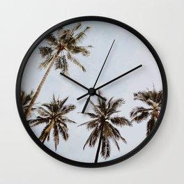 palm trees xiv / chiang mai, thailand Wall Clock