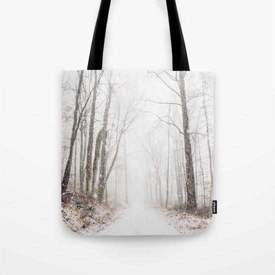 Winter path #photography #society6 Tote Bag