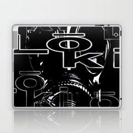 loki stitch design - black mask Laptop & iPad Skin