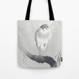 Heron Sitting on a Willow Tree - Vintage Japanese Woodblock Print Art Tote Bag