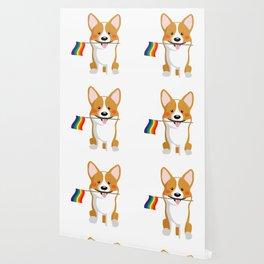 LGBT Gay Pride Flag Corgi - Pride Women Gay Men Wallpaper