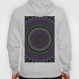 Black White and Purple Mandala Hoody