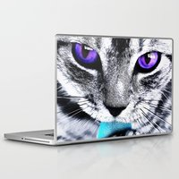 thundercats Laptop & iPad Skins featuring Purple eyes Cat by Augustinet
