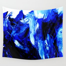 Dancing In Blue No. 1 by Kathy Morton Stanion Wall Tapestry