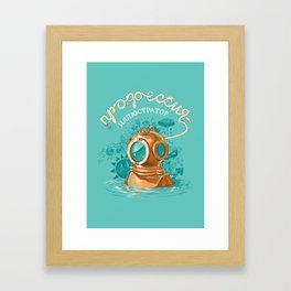 Profession illustrator Framed Art Print