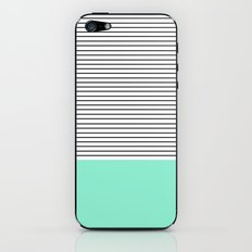 Minimal Mint Stripes iPhone & iPod Skin