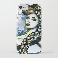 rapunzel iPhone & iPod Cases featuring Rapunzel by Lindella
