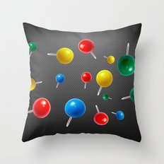 Pushpins  Throw Pillow