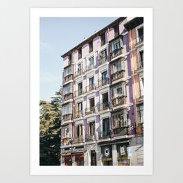 Purple Building Crush Madrid | Spain Travel Print fine art photo | saige ash studio  Art Print