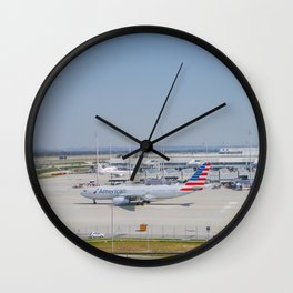 Flight AA717 MUC-PHL Wall Clock