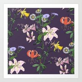 Flower mood Art Print