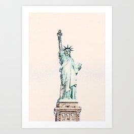 ArtWork Statue of Liberty New York City USA Painting Art Print