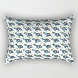 Cute Blue Sea Turtle Rectangular Pillow