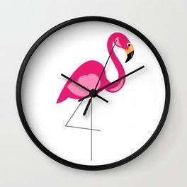 Lawn Flamingo Wall Clock