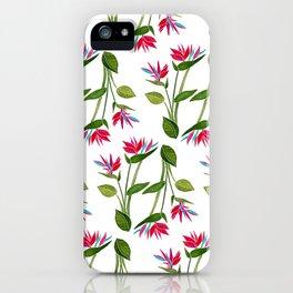 Pink Bird Of Paradise iPhone Case