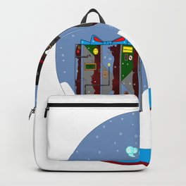 A Snow Globe with a Steampunk Kitty Backpack
