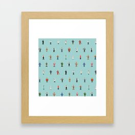 Mixjam characters pattern Framed Art Print