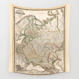 Map of Western Russia (1854) Wall Tapestry