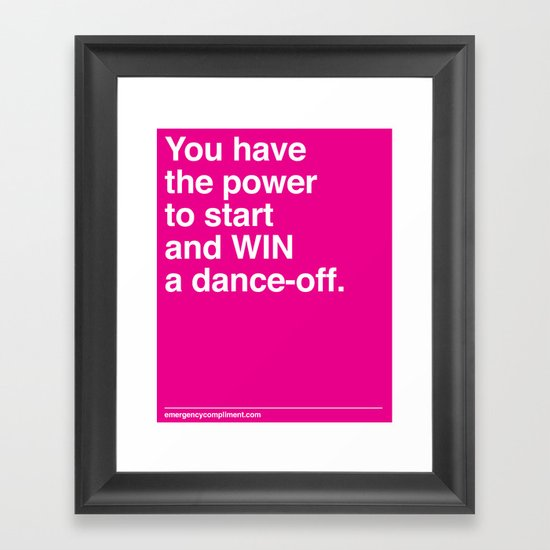 Dance Off Framed Art Print