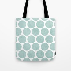 robins egg blue polka dots Tote Bag