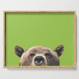 Bear - Green Serving Tray