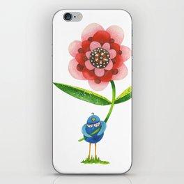 Red Wonder Flower iPhone Skin