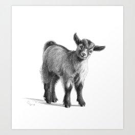Goat baby G097 Art Print