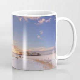 II - Traditional Dutch windmills in winter at sunrise Coffee Mug