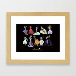 Thumbelina Dresses! Framed Art Print