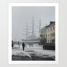 The Clipper in the snow Art Print