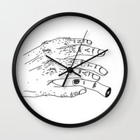 satan Wall Clocks featuring Satan by Sparganum