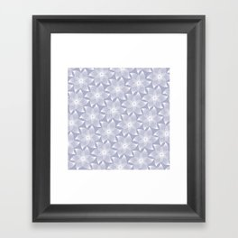 Pale flower pattern Framed Art Print