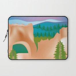 Bryce Canyon National Park, Utah - Skyline Illustration by Loose Petals Laptop Sleeve